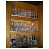 Assorted Glassware, Contents of Cabinet