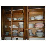 Assorted Dishware, Contents of Cabinet