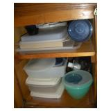 Plastic Containers, Contents of Cabinet