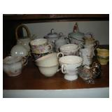 Tea Kettles, Tea Cups and Tea Strainers