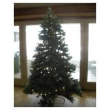 Lighted 7 ft. Christmas Tree w/stand