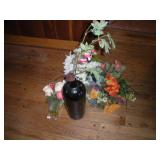Faus Flowers and Vase