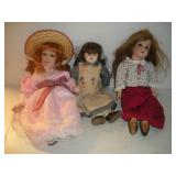 Porcelain Dolls, 16 in. Tall