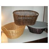 (3) Wicker Laundry Baskets