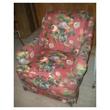 Floral Arm Chair - 33 Inches Long