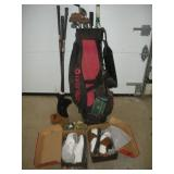 Golf Clubs & Nike Golf Shoes (Size 8)