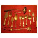 Assorted Sterling Silver Serving Utensils, 15