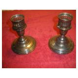 2 Sterling Silver Candlestick Holders