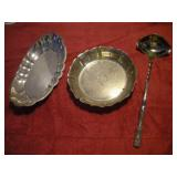 2 Sterling Silver Serving Dishes and Ladle