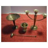 Sterling Silver Canlde Holders and Snuffer