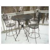 Metal Patio Bar Table & Stools