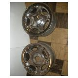 2 Steel Ford Rims, 17x7, 5 inch Bolt Pattern