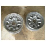 2 Steel Rally Rims,14x6
