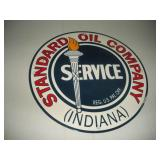 12 inch Standard Oil Company Porcelain Sign