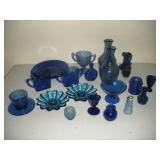 Cobalt Blue Glass Lot