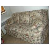Floral Sofa, 76 inches Long