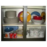 Contents of Cupboard, Plates and Misc.