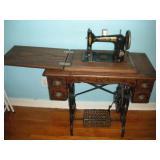 Mason Treadle Sewing Machine, 18x34x32