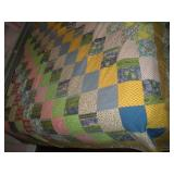 Full Size Homemade Patchwork Quilt