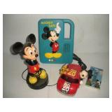 Mickey Mouse Electronics, Phone, Alarm, Recorder