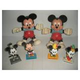 Disney Bobble Heads and Plastic Mickey