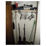 Contents of Hall Closet, Vacuums and more