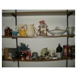 Misc. Decorative Lot, Contents of 2 Shelves