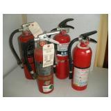 4 Fire Extiquishers