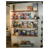 Paint Supplies and Paint, Contents of 4 Shelves