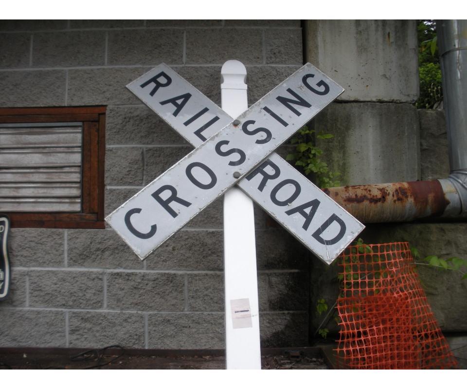 Vintage Railroad Sign Photo Keychain Railway Express Agency Train