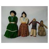 Native American dolls. Hand Crafted. Range in n