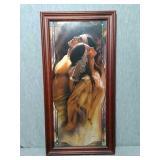 Beautiful Native American Framed Artwork. 2003