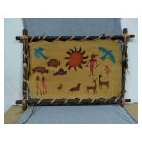 Hand Crafted Native American wall Art. Stretched