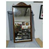 Beautiful Vintage Walnut framed Mirror. 17