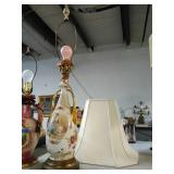 Victorian Lamp with shade. Lamp tested and works.