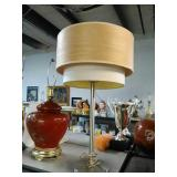 Double Shaded table Lamp. Stands approximately