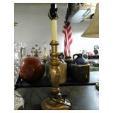 Cast Metal base lamp. Stands approximately 20""