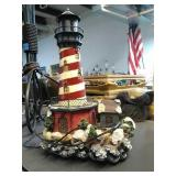 Cute Christmas Lighthouse light. Top of