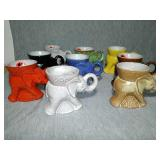 9 Assorted Vintage Political Elephant cups. Dated
