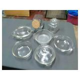 9 Assorted Glassware storage and baking dishes.