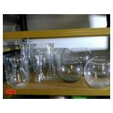 15 Assorted Vases and Fish bowls.