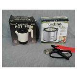 Rival small crock pot, and Hot Pot. 16 Oz Crock
