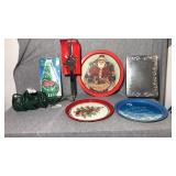 7 Assorted Christmas items. Outdoor adapter for