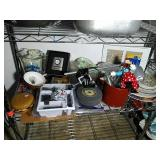Shelf lot of miscellaneous items. Many great