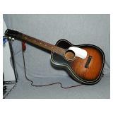 Silvertone vintage String Guitar. Little damage