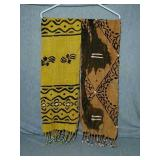 "African Hand woven scarfs/table runners. 48"" Each"