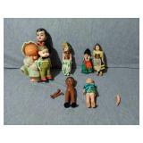 Mixed lot of Vintage Dolls. 8 Assorted. Most old