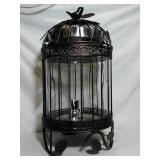 Beautiful Ice Tea jar in cage. Stands