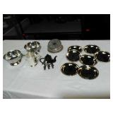 Silver Plated assortment. Coaster, creamer,