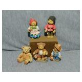 Cherished Teddies Collectibles. Set of 5